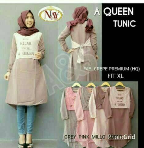 A queen Tunik / grosir hijab / supplier baju murah / HOTD / toko hijab