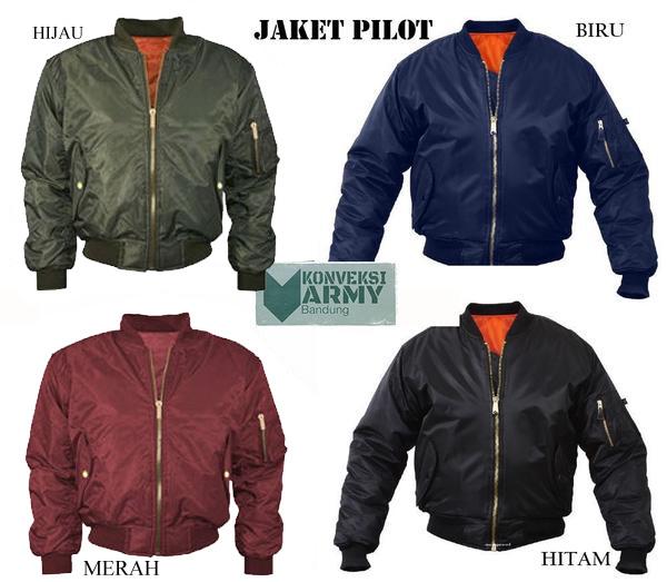 Jual Jaket Pilot Bomber Scoot Army