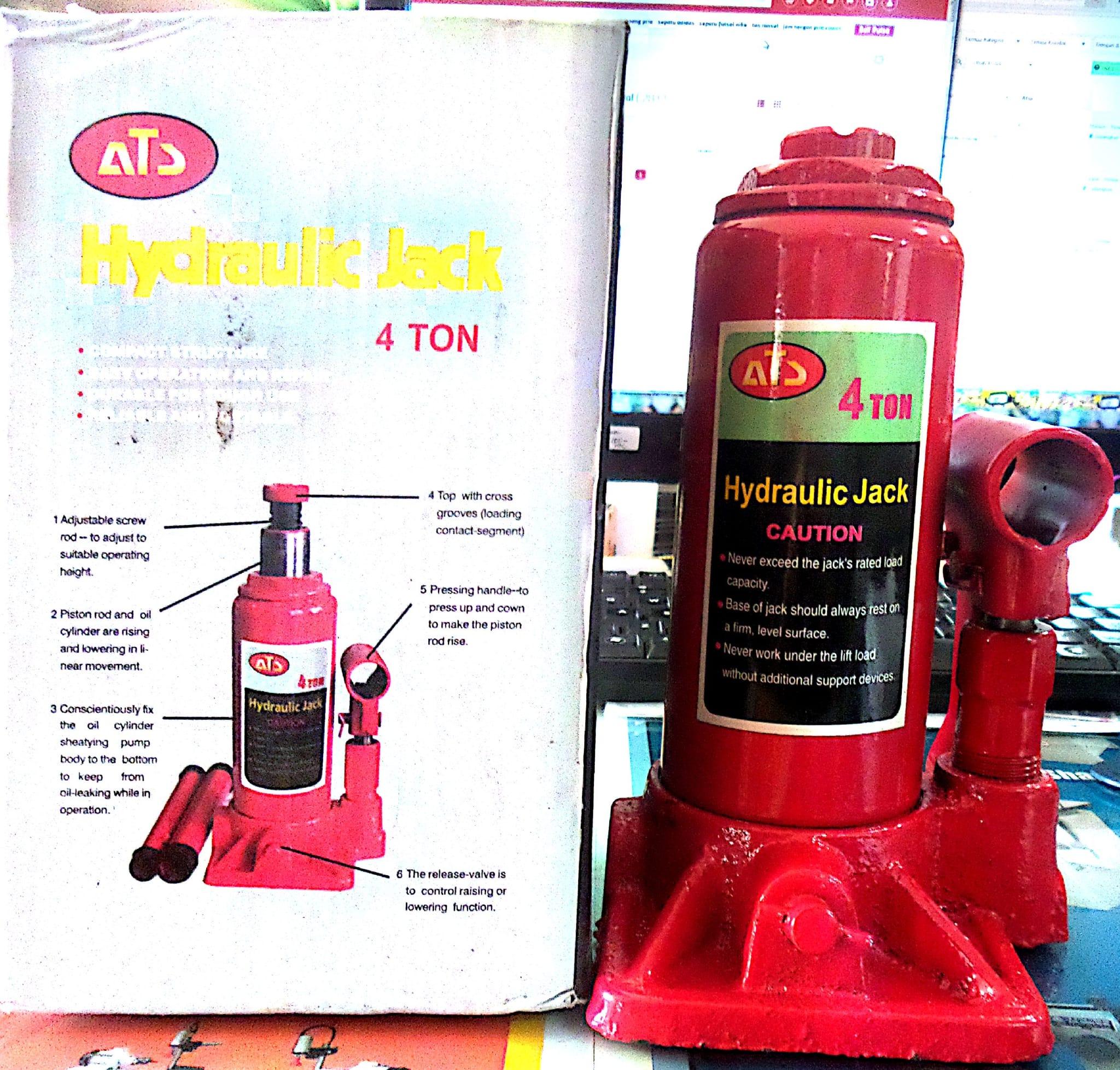 Jual Dongkrak Botol 4 Ton Raja Diesel Tangerang Tokopedia Tekiro Mobil