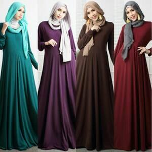 Suplier gamis polos jersey grosir murah baju busana hijab muslim