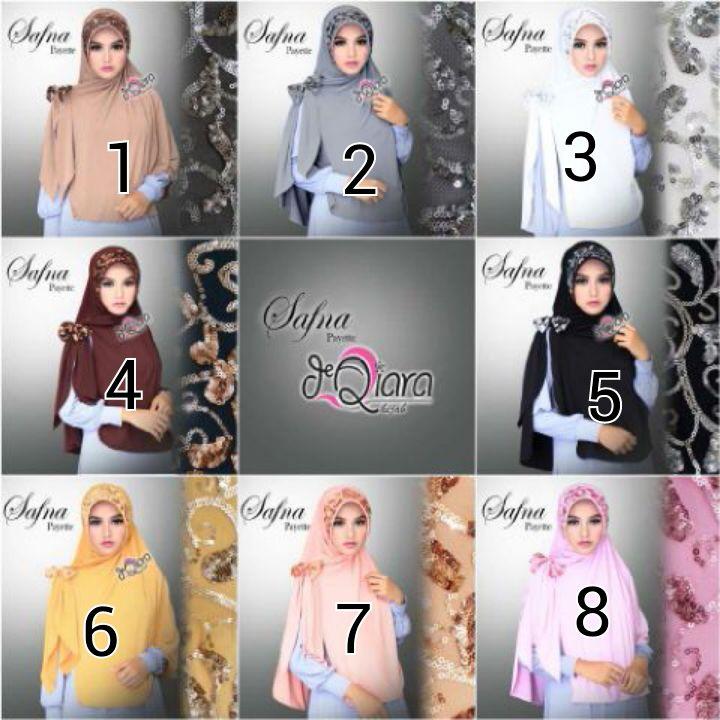 Jual Jilbab instan Safna by Dqiara hijab