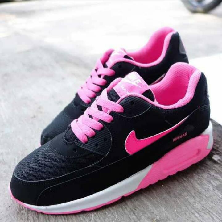 Jual Sepatu Nike Airmax 9.0 Hitam Pink Wanita Olahraga Murah + ... 11dfb4aa3e