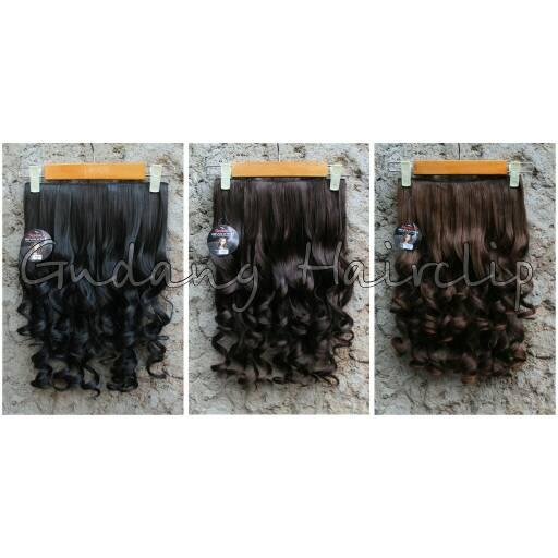 Hair Clip keriting Sosis Hairclip Keriting Gantung - Hitam thumbnail