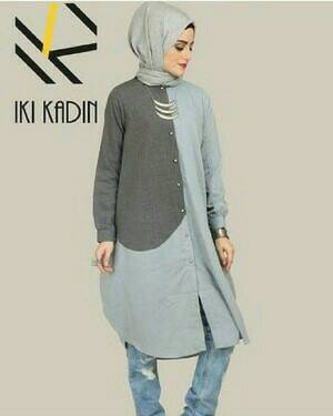 Atasan Baju Muslim Gamis Hijab Jilbab Tunik Kayla Tunik