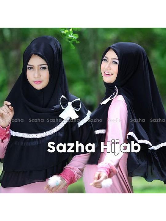 khimar / hijab / jilbab syari Sazha renda pita
