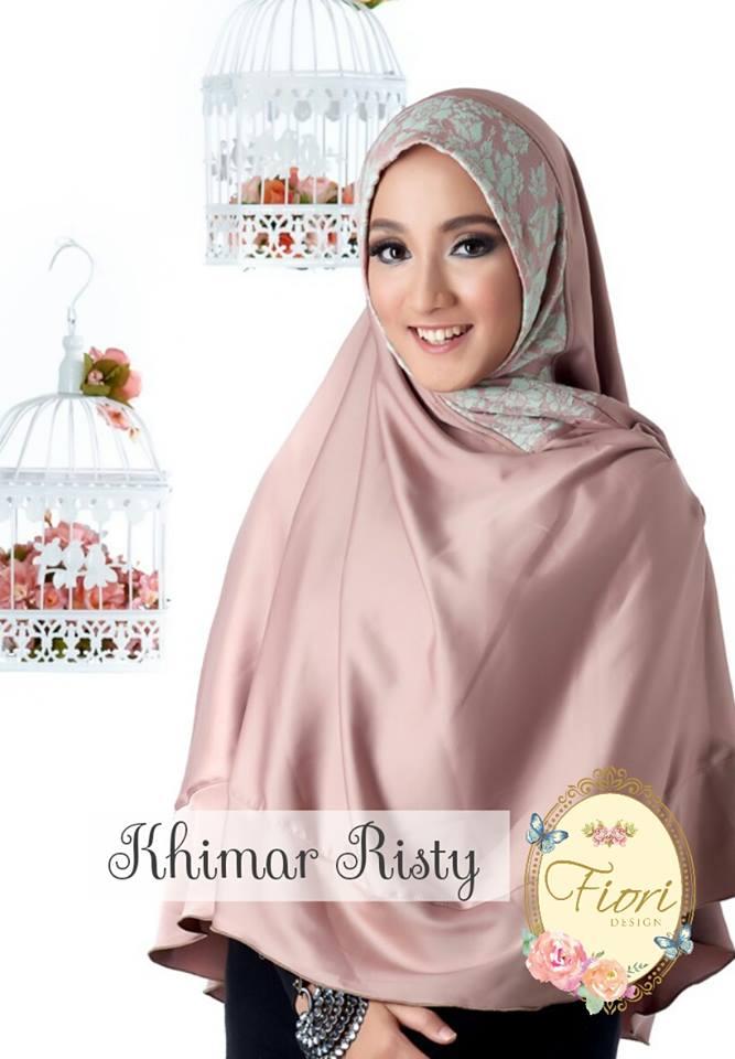 Khimar / bergo / hijab / jilbab syari satin risty