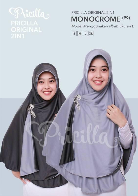 Jilbab / Hijab Instan 2 in 1 ( bolak balik ) Size XL