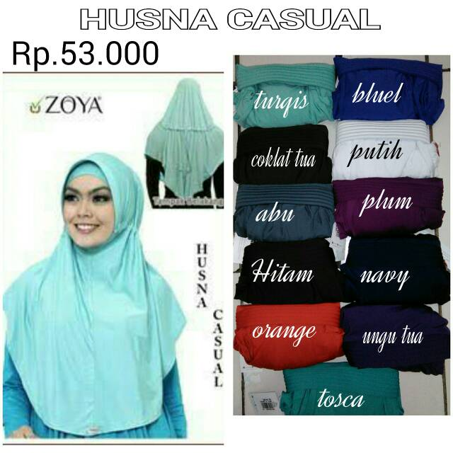 NEW Bergo Husna Casual Zoya Hijab - DISC 10%