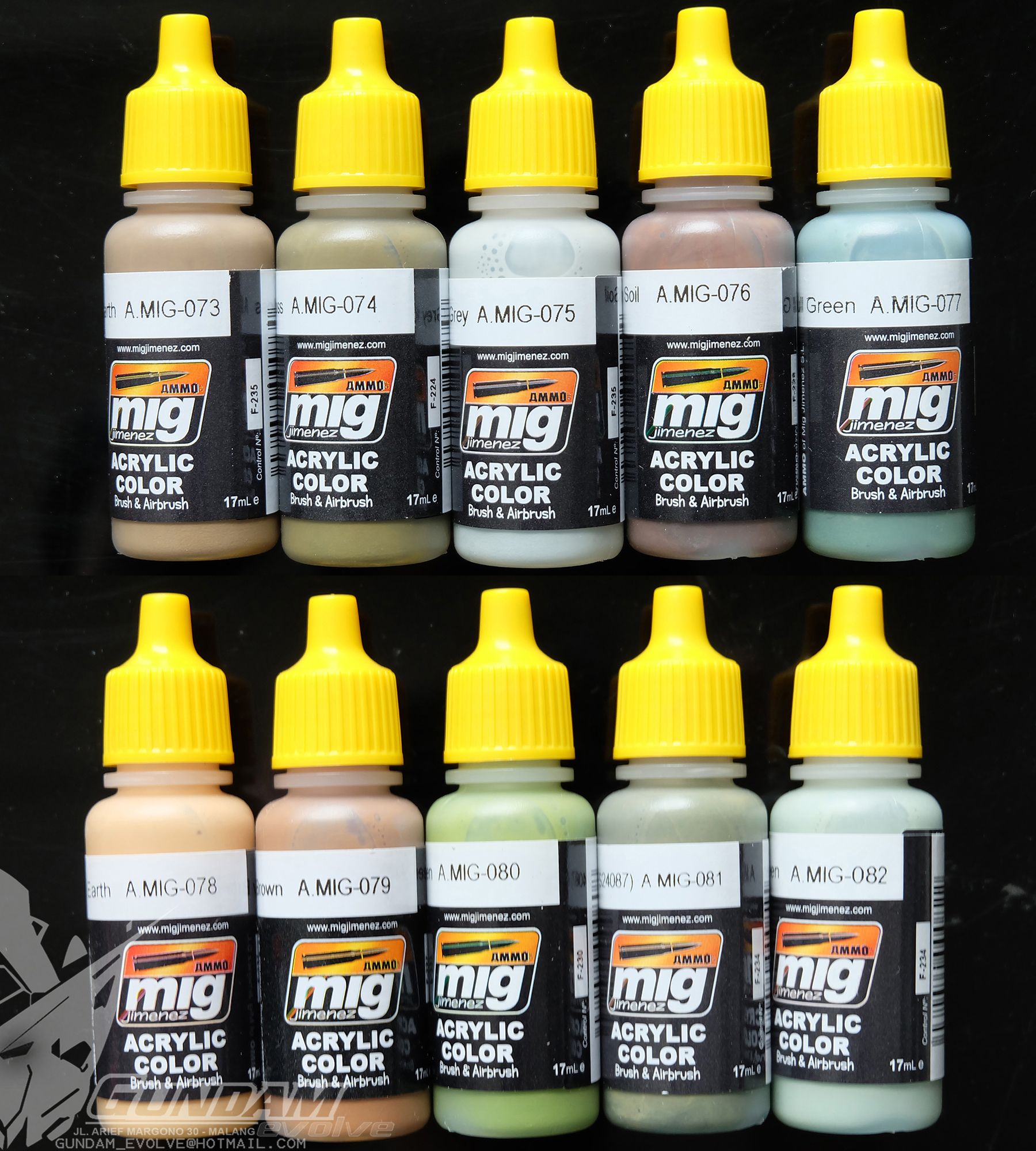 MIG Acrylic Paint (17ml) : Real Colors Selection 7