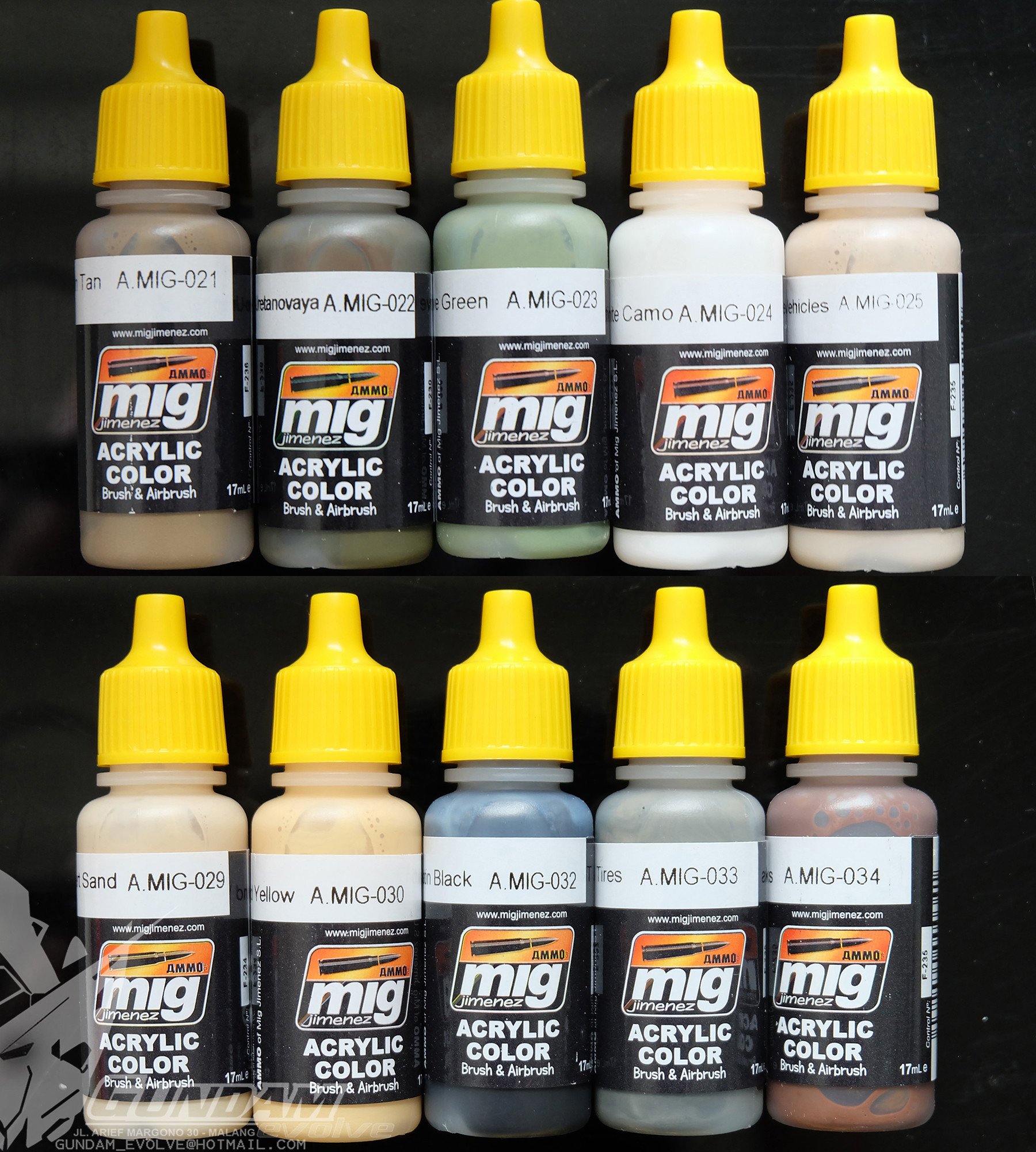 MIG Acrylic Paint (17ml) : Real Colors Selection 3