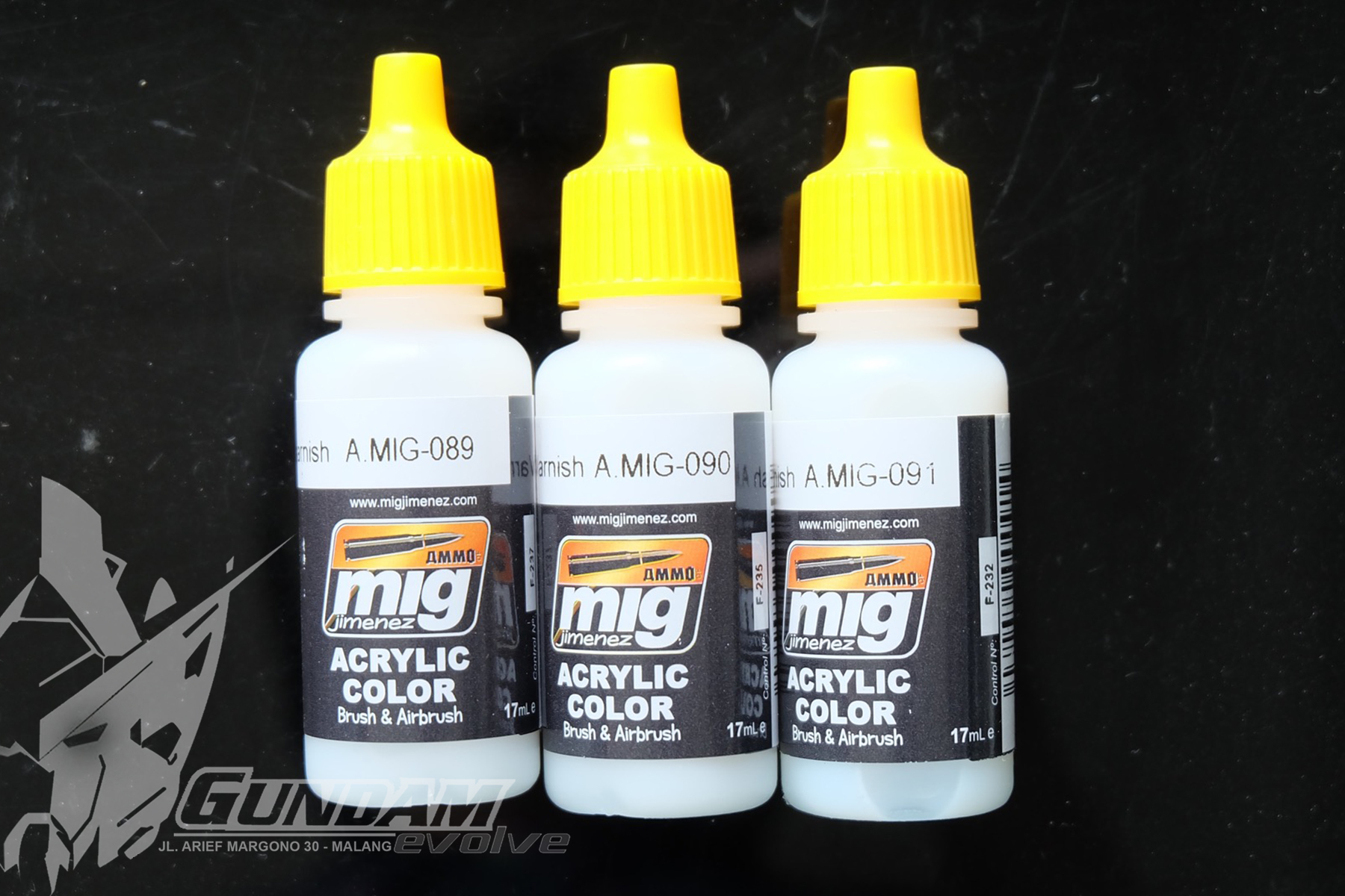 MIG Acrylic Paint (17ml) : Varnish Selection