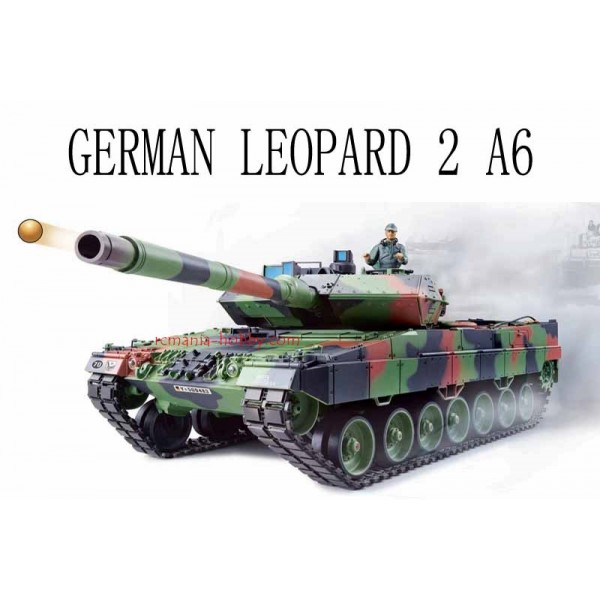 Heng Long German Leopard 2A6 1/16 Airsoft R Battle Tank 2.4Ghz (3889-1