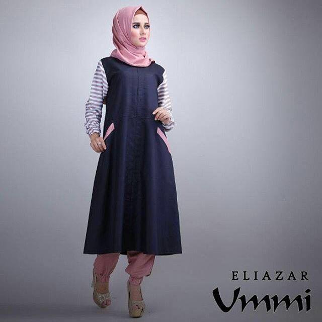 Baju Hijab Murah Eliazar Navy