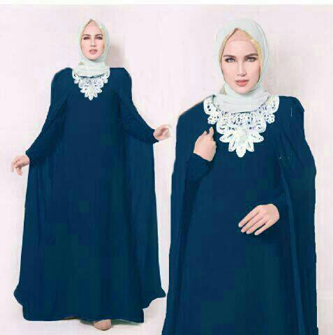 Theresia Cape Hijab Navy