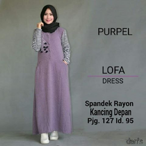 LOFA DRESS/LONGDRESS LOFA/GROSIR BAJU/HIJAB/BAJU MUSLIM