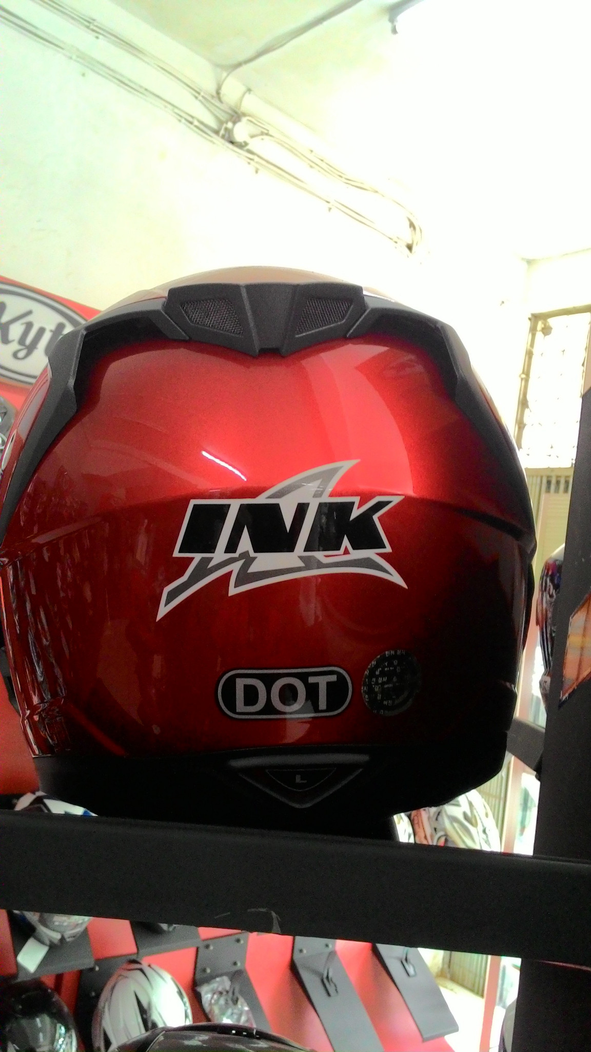 Jual Helm INK Duke Putih Solid Full Face Double System