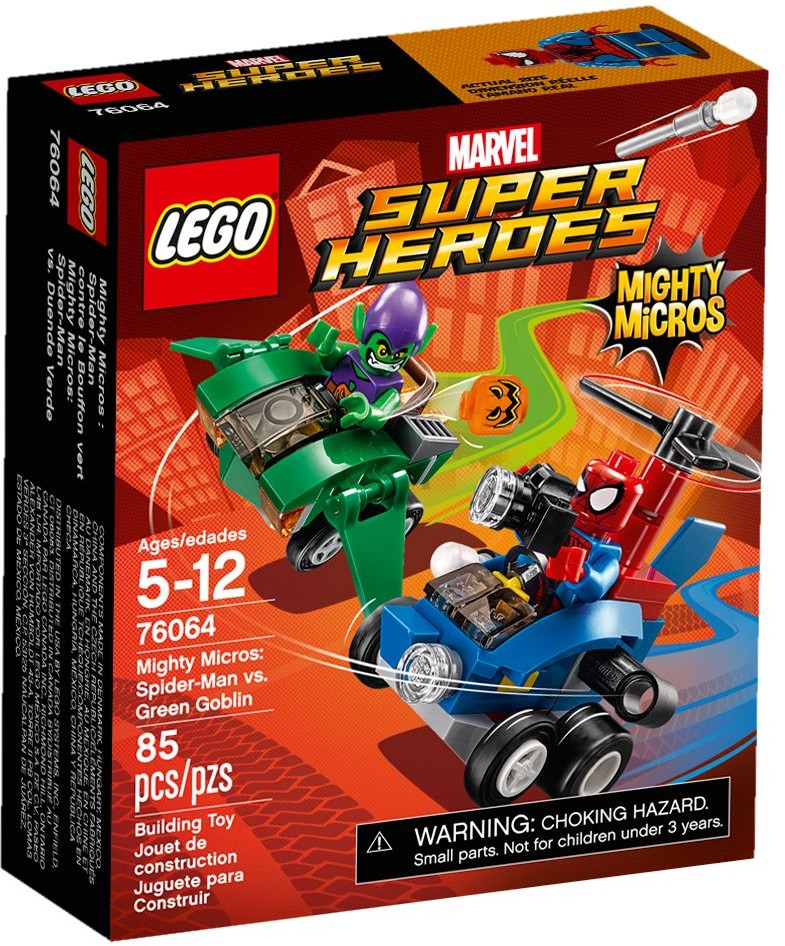 LEGO 76064 - Super Heroes - Mighty Micros: Spider-Man vs. Green Goblin