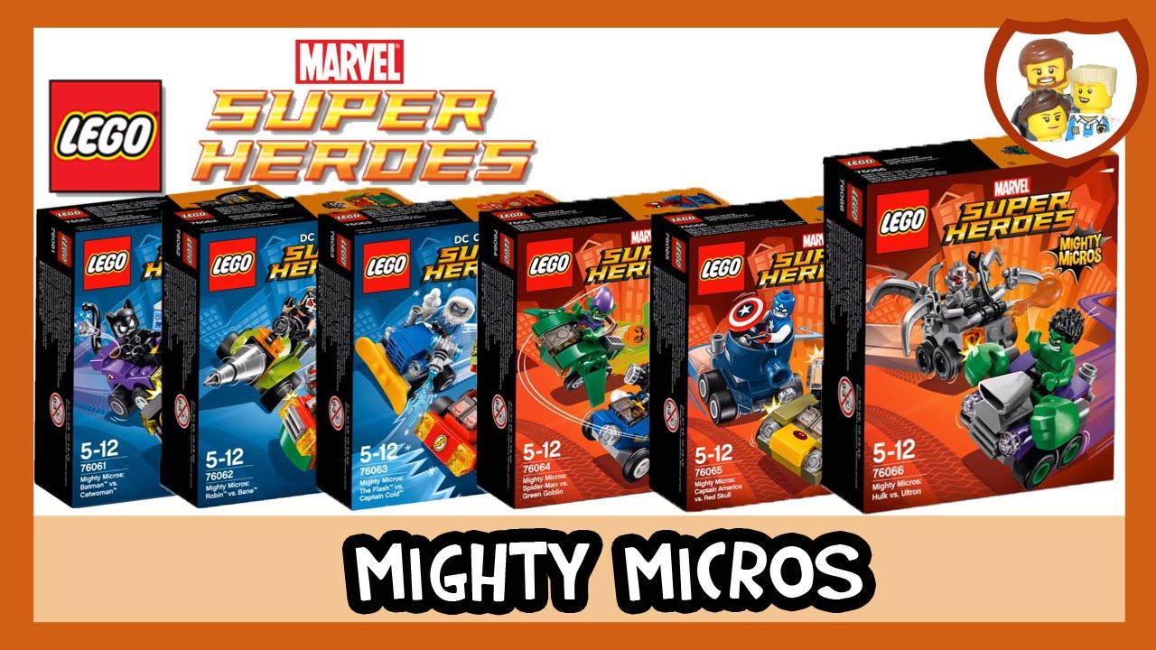 LEGO 76061 - 76066 - Super Heroes - Mighty Micros Bundle (6 sets)