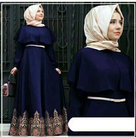 Hijab Andiani Batik Navy
