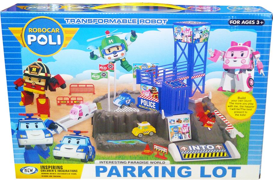 Mainan Anak ROBOCAR POLI PARKING LOT - ZY-609