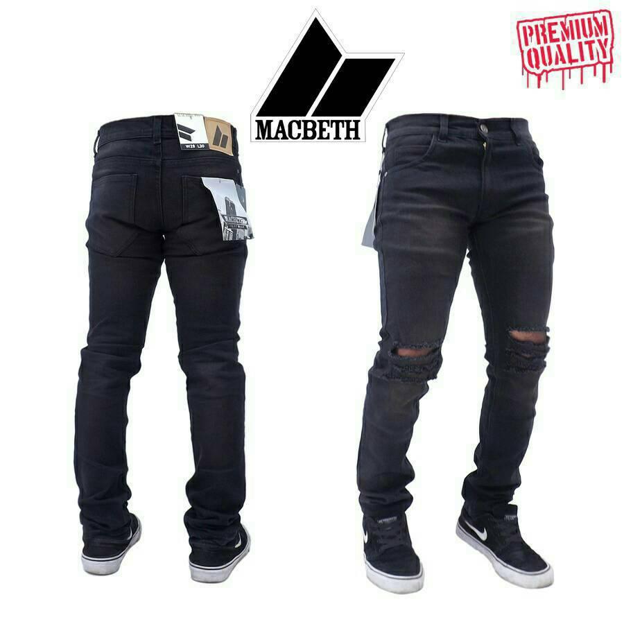 Celana Jeans sobek Pria | Ripped Jeans Keren. Source · Celana Jeans Panjang Robek Priacowok Daftar Harga Terbaru Source Celana Jeans Panjang Cowok .