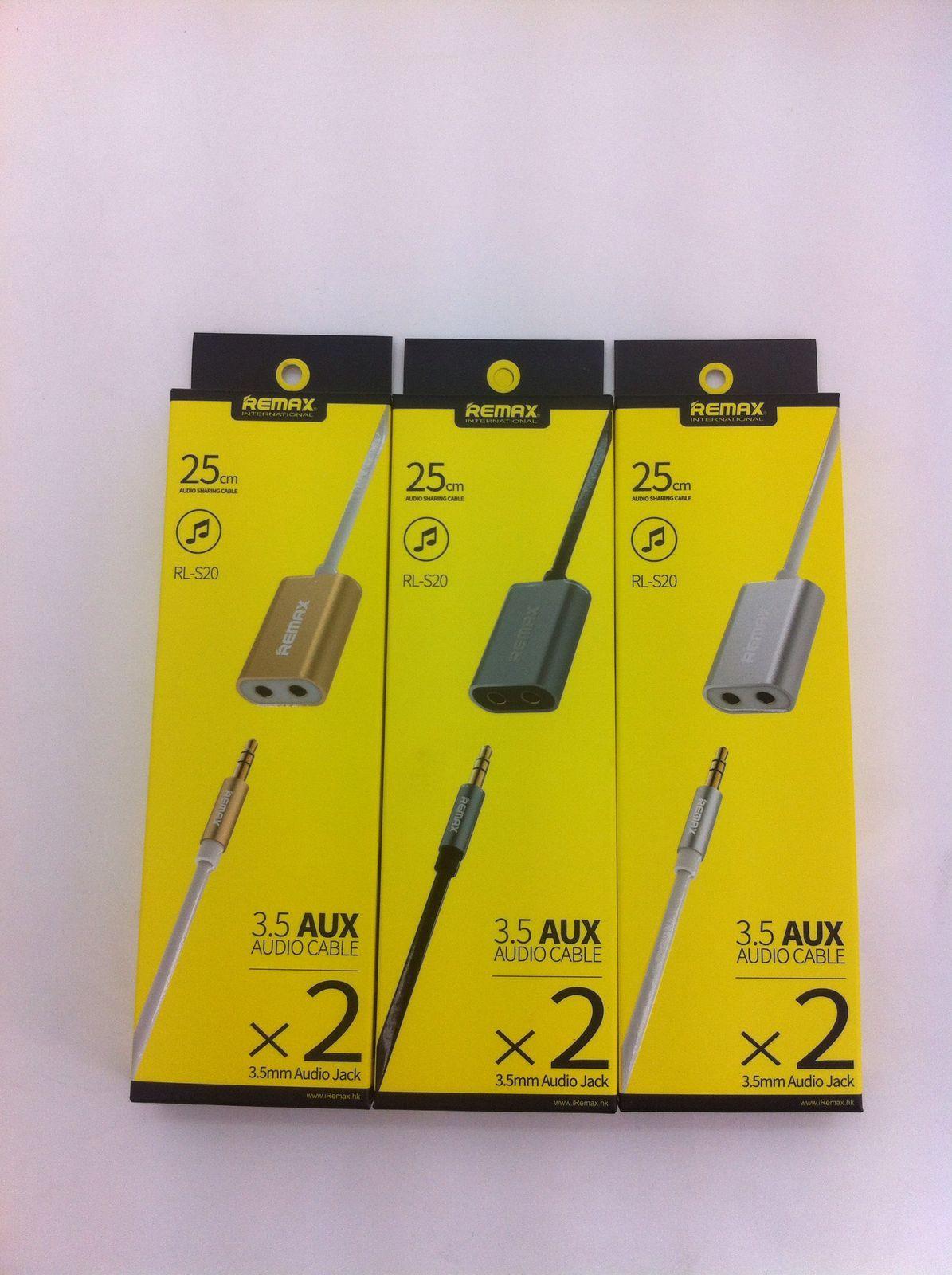 Jual Remax Cable Aux Audio Splitter 35mm Kabel Rl 20s