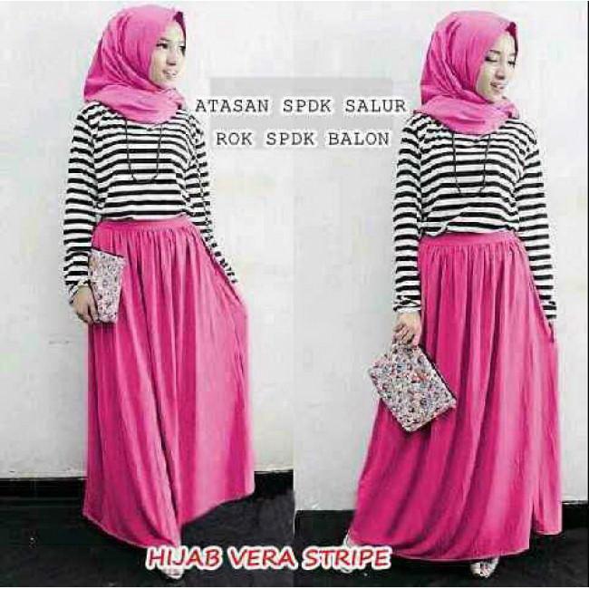 Baju Wanita Hijab Vera Stripe