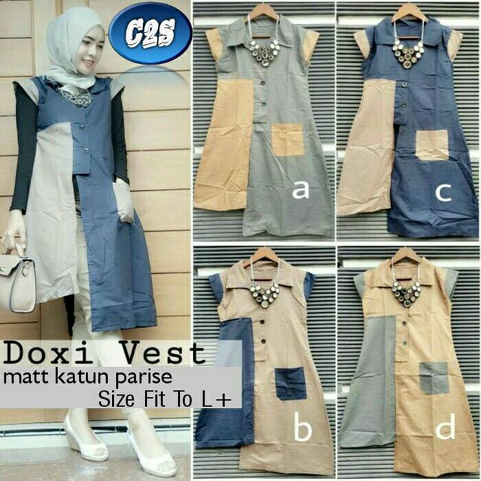 DOXI VEST | OUTER MUSLIM | SETELAN HIJAB | ORI BY C2S