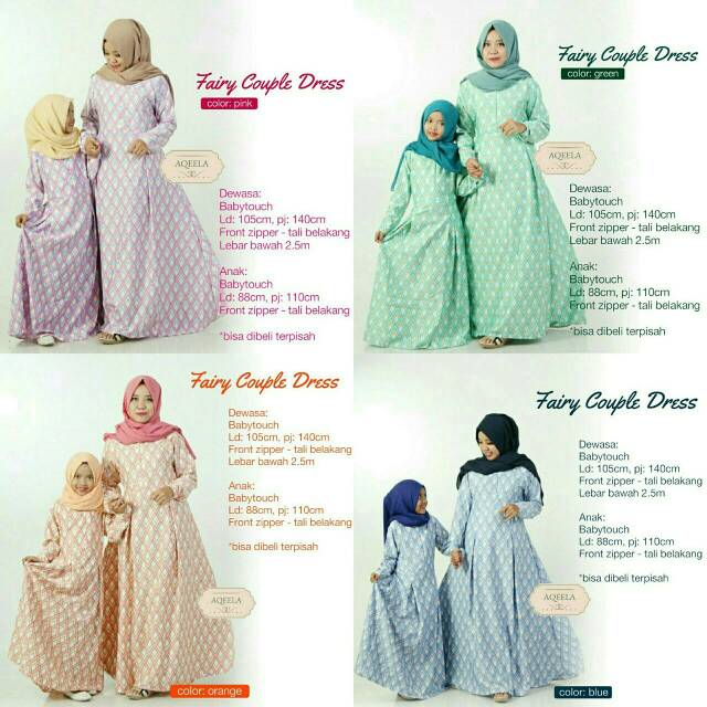 hijab gamis Fairy Couple ibu anak babytouch dropship supplier