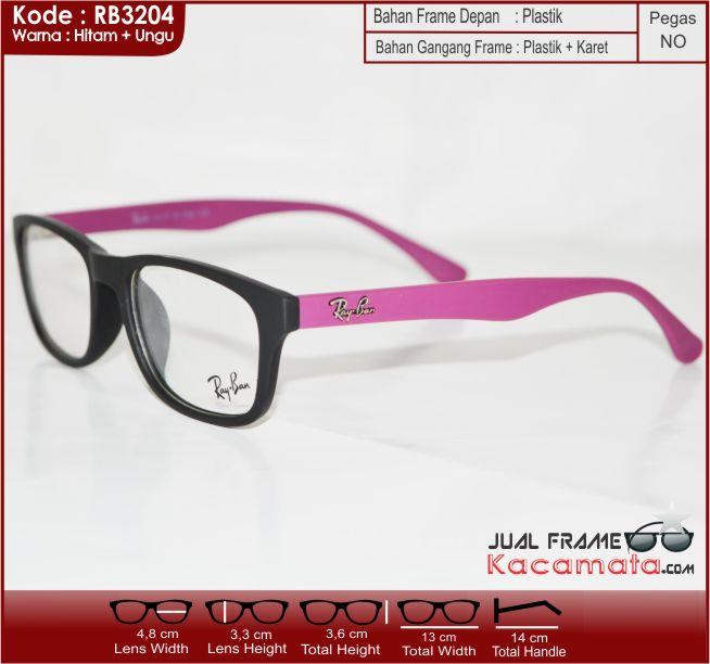 Jual Frame Kacamata Korea Rayban + Lensa Minus plus silinder Anti ... 0914a7379e