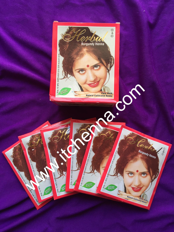 Jual Henna Rambut 1 Box Isi 6pcs Warna Burgundy Itc Tokopedia