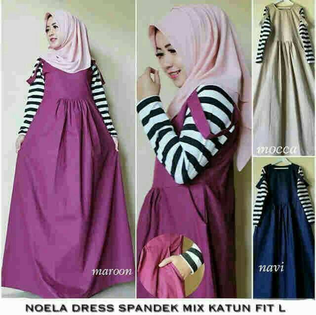 Noela Dress / gamis / dress muslimah / long dress / hijab baru