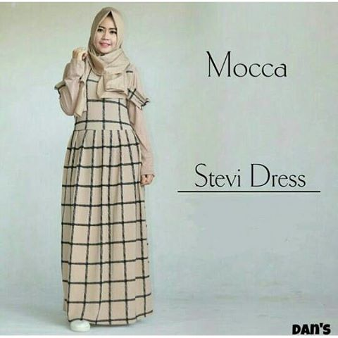 Baju Hijab Murah Stevi Dress Mocca