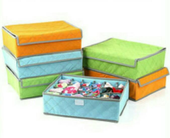 Tempat pakaian dalam kaos kaki -  hijab box storage