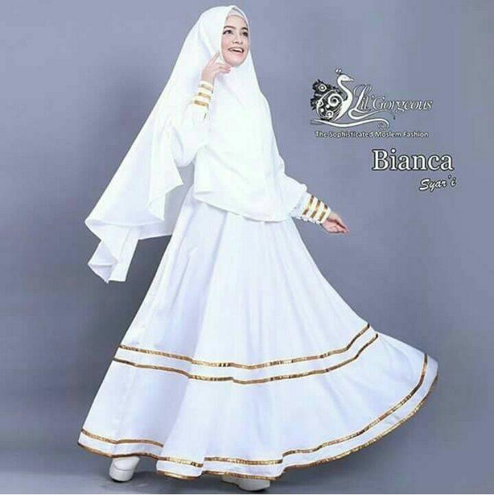 Gamis Hijab Syar'i Putih XL