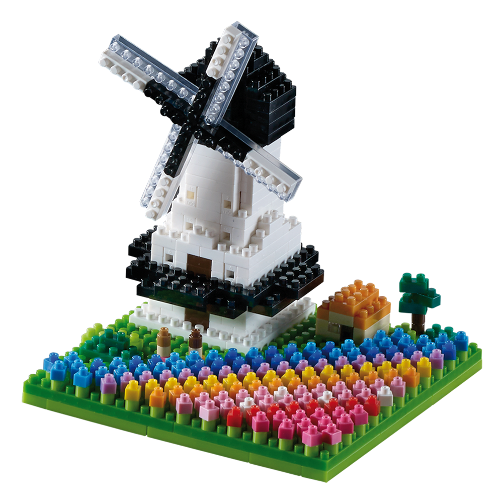 BRIXIES 200.144 Windmill with Tulips (Level 3)