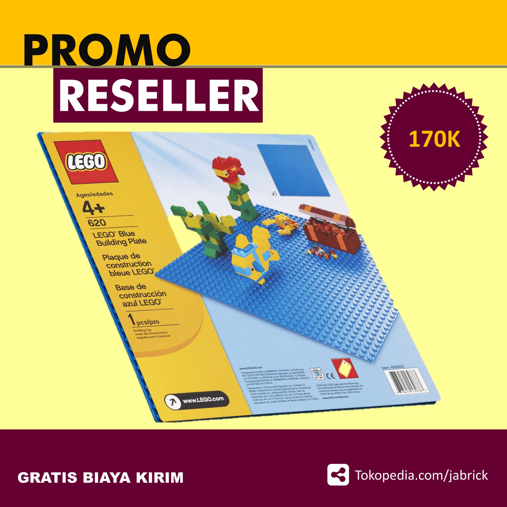 Promo PAHELER LEGO 620 Basic Blue Building Plate