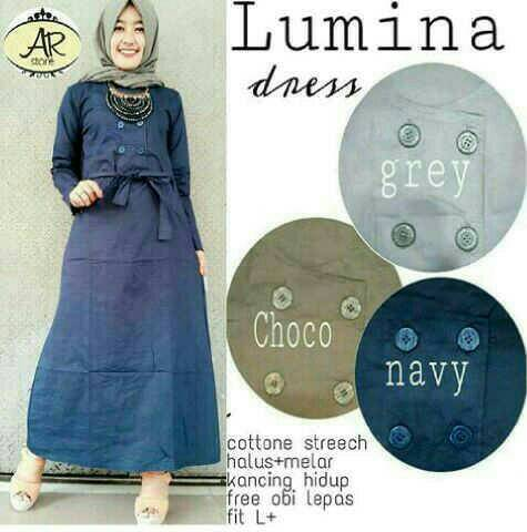baju muslim/lonh dress hijab/baju wanita trendy/lumina dress