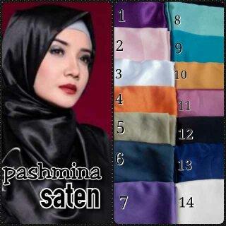 pasmina saten /kerudung/hijab/pasmina