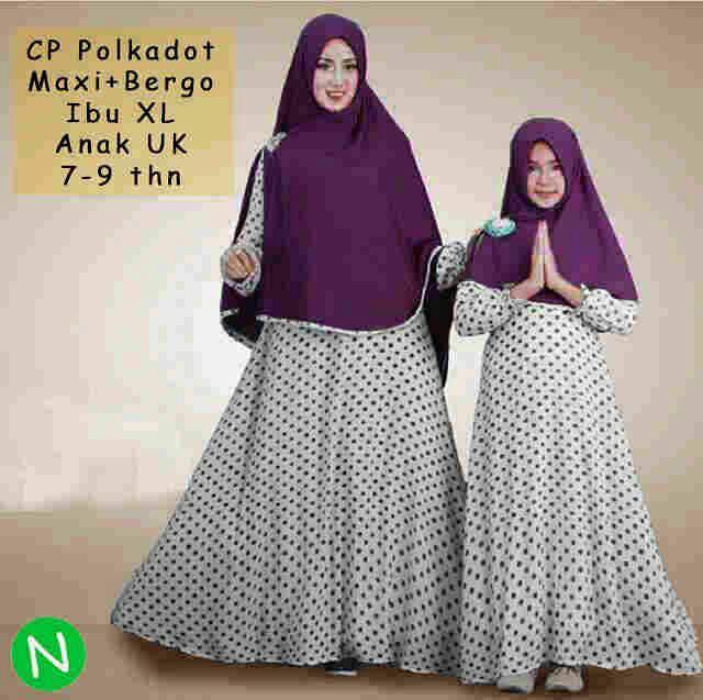 couple polkadot mk hijab