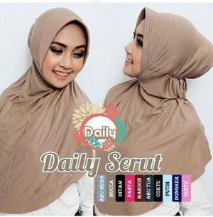 Jilbab Instan Daily Serut Instant Hijab Kode 3a01-316