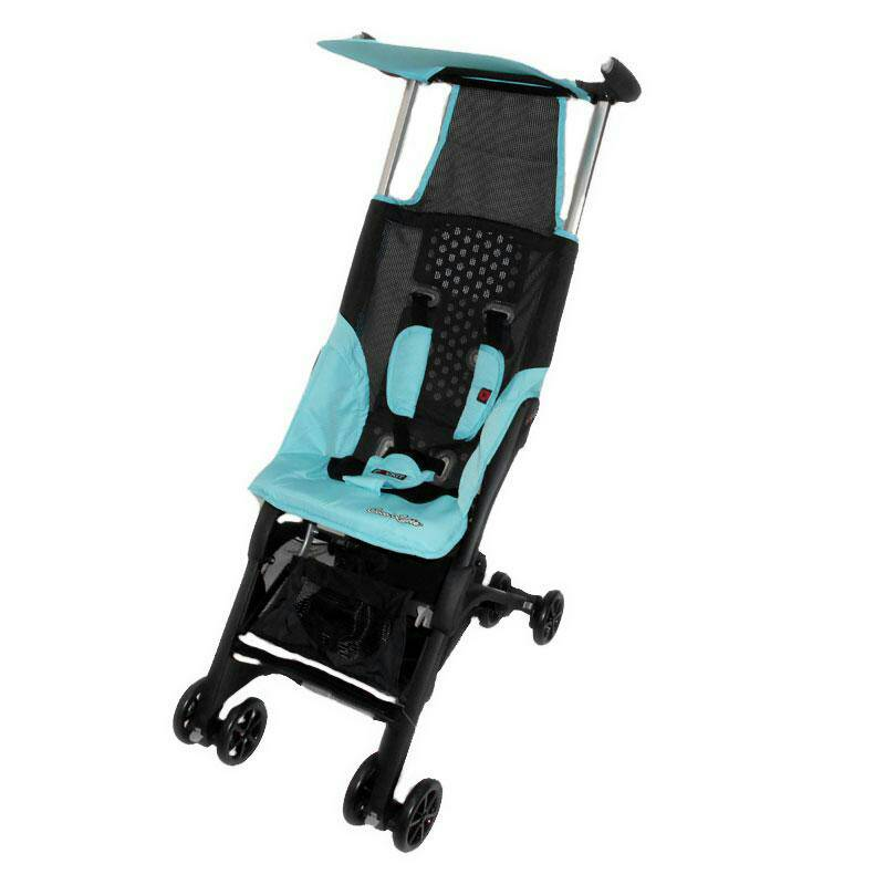stroller cocolatte pockit 689 backpack blue, yellow