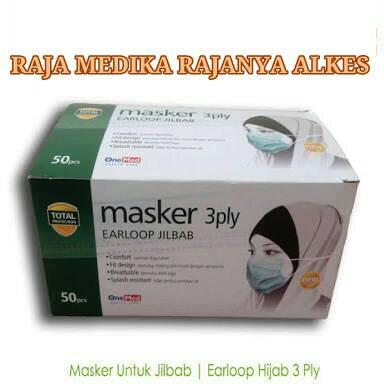 OneMed Masker 3 Ply Earloop Jilbab Masker Hijab Masker Jilbab