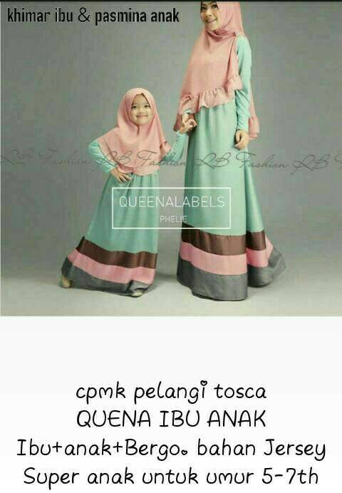 couple gamis mom kid tosca / couple hijab ibu anak tosca