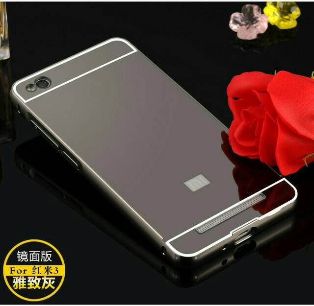 new product c5a19 14848 Jual Case Bumper Mirror Xiaomi Redmi 3 3s Back Case Cover Door ...