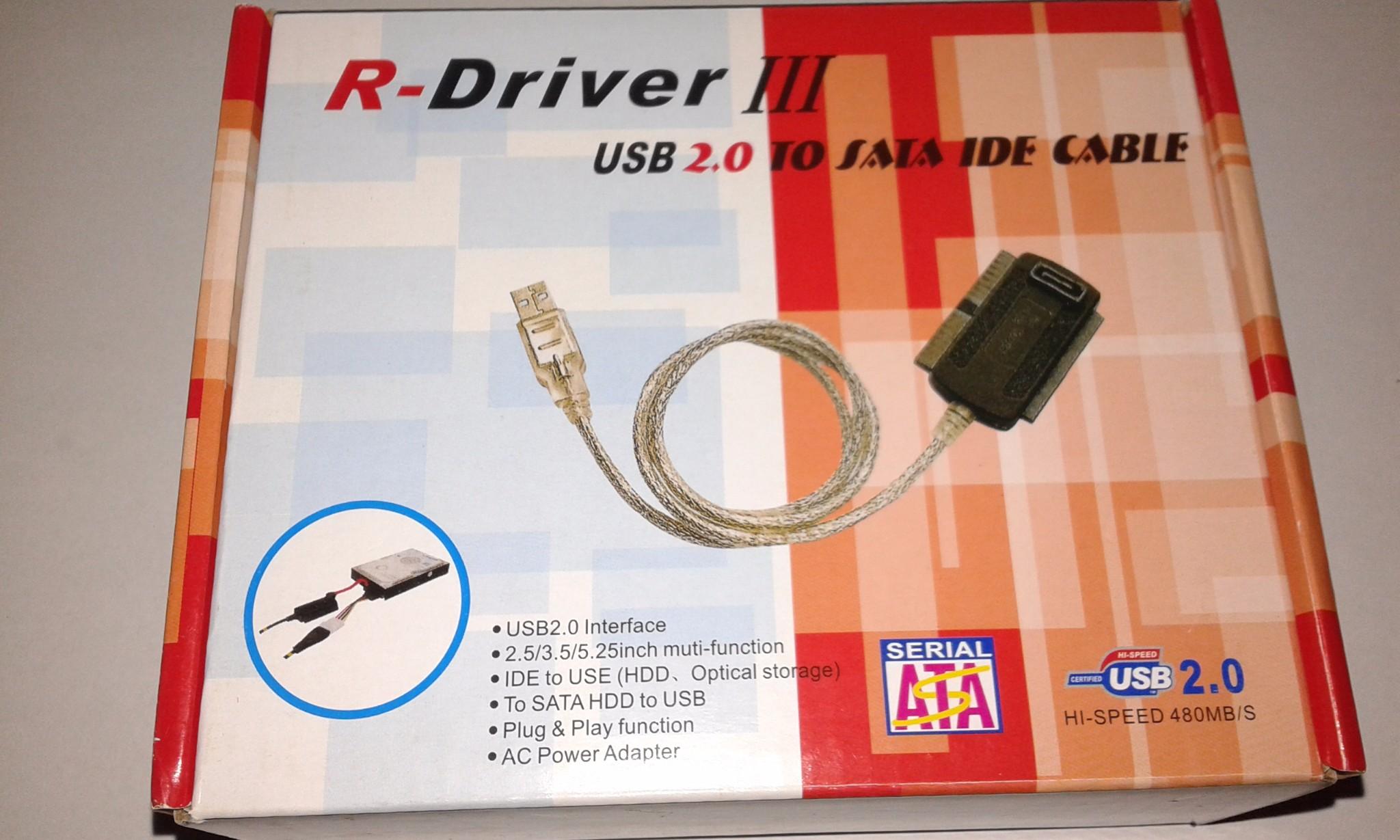 R -driver 3 usb 2. 0 sata/ide cable convertor.