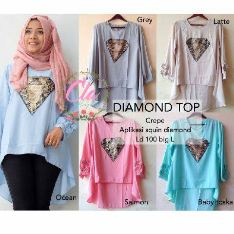 diamond top by cla hijab