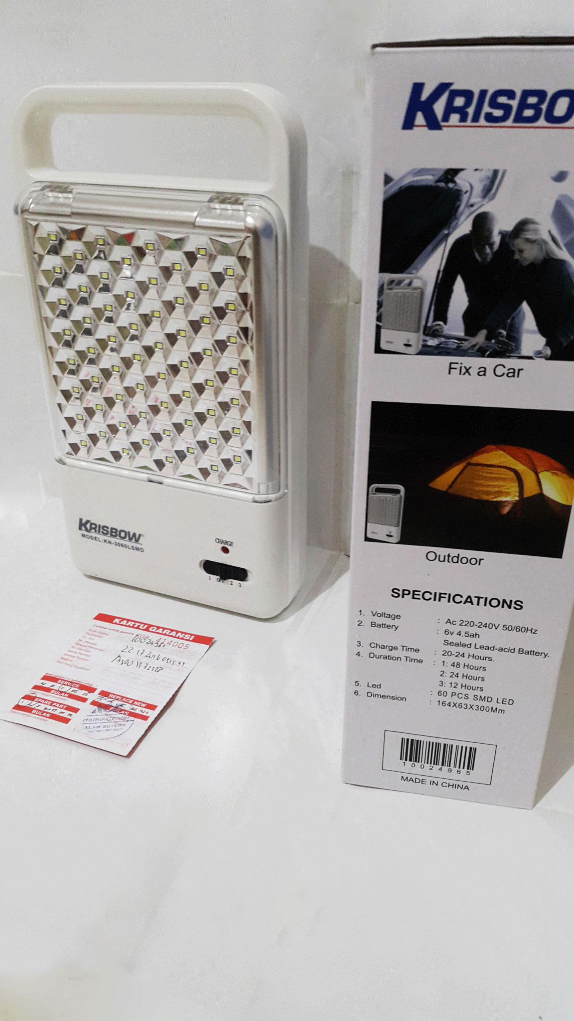 Jual Krisbow Emergency Lamp 60 LED