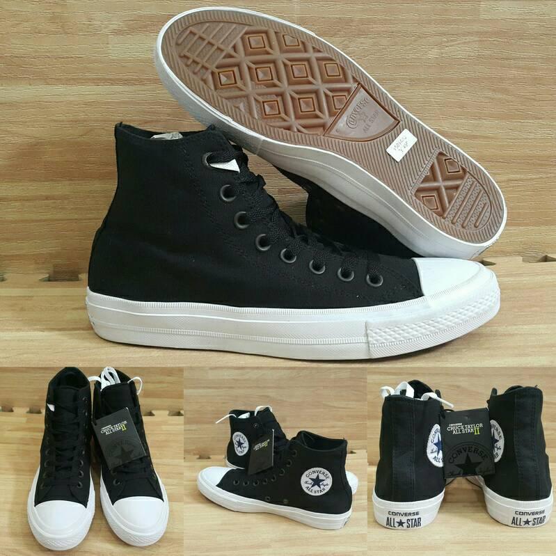 Jual Sepatu Kets Converse CT2 Chuck Taylor All Stars High Black ... c97fae819c