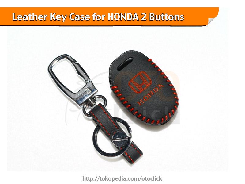 Sarung Kunci Kulit Leather Keycase Honda Mobilio Brio Jazz CR-V Merah